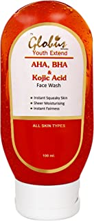 GLOBUS REMEDIES Youth Extended Exfoliating Face Wash Cleanser with AHA, BHA and Kojic Acid (100 ml)