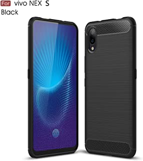 vivo NEX S Case,TenYll TPU Soft Cover Case [Ultra Silm] [shockproof] [Durable] Silicone Cover for vivo NEX S -Black