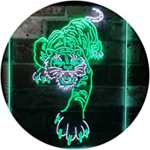Tigers Man Cave Sport Dual Color LED Neon Sign White & Green 400 x 600mm st6s46-i3195-wg