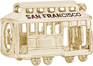 Rembrandt Charms SAN Francisco Cable CAR Charm in Gold OR Silver