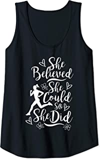 Womens Marathon Runner She Believed She Could Woman Running Girl Tank Top