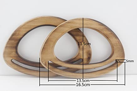 a Pair Natural M66 2 Pieces 6 1//2 inch//16.5cm Wooden Purse Handles Handle Replacement Purse Handles Handbag Handle for Bag Making per lot Purse Making