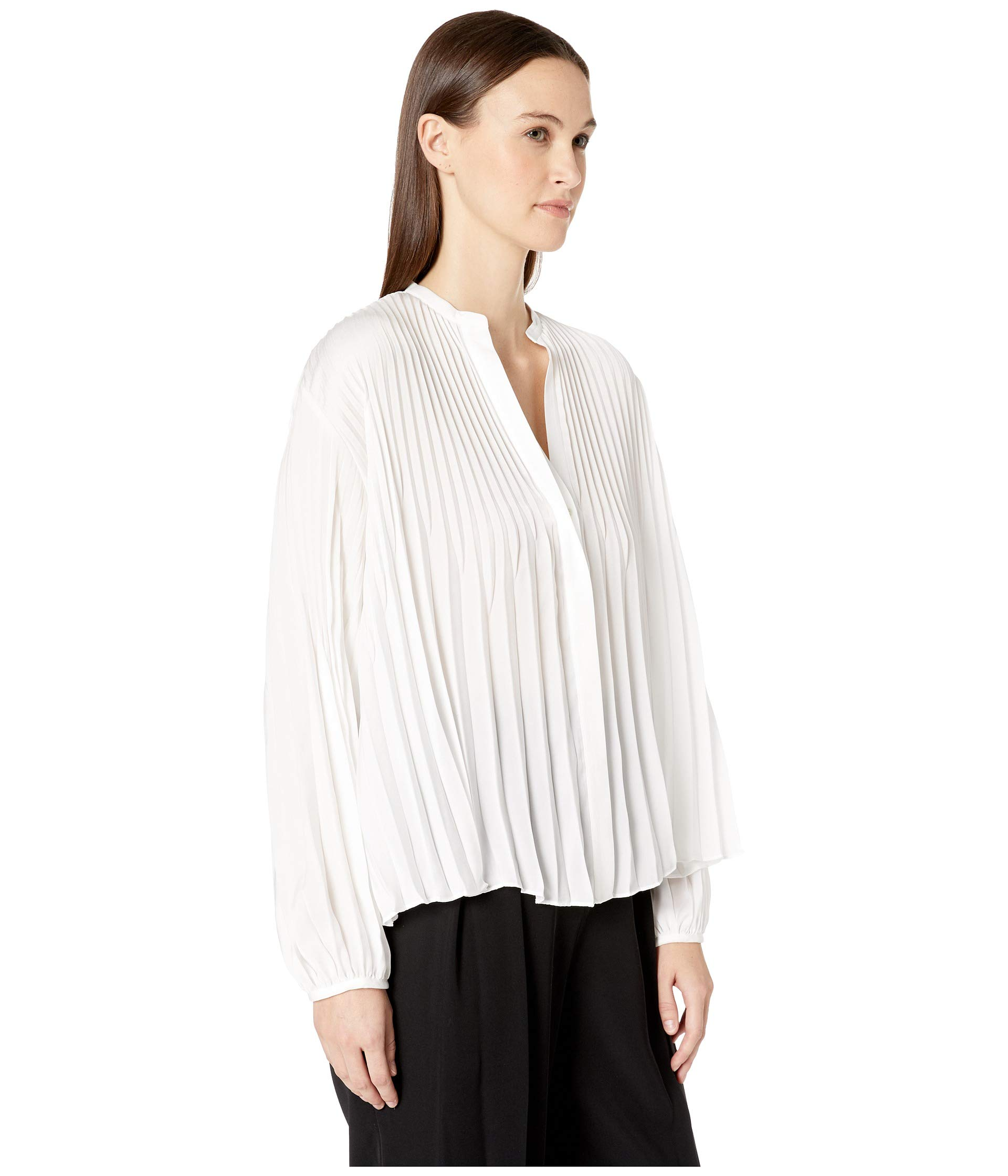 0689bfbcfa398 Vince Chevron Pleated Blouse at Luxury.Zappos.com