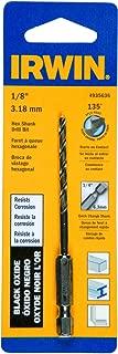 Irwin Tools 4935636 Black Oxide Hex Shank Drill Bit, 1/8-Inch