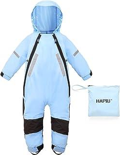 HAPIU Kids Rain Suit Waterproof Coverall,Upgraded