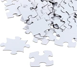 Blank Puzzle - 100-Piece Wedding Guest Book Puzzle, White Jigsaw Puzzles for DIY, Kids Color-in Crafts Projects, 27 x 36 Inches