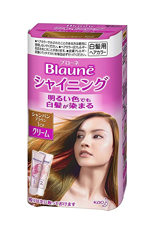 区暴露【花王】ブローネ シャイニングヘアカラークリーム1CP シャンパンブラウン ×5個セット