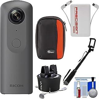 Ricoh Theta V 360度球状4K HDデジタルカメラwith Time Lapseデバイス+ Selfieスティック+電源銀行+ケース+キット