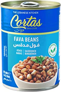 Cortas - Fava Beans 14oz (6 PACK), RTE Cooked Foul Medammas (Original)