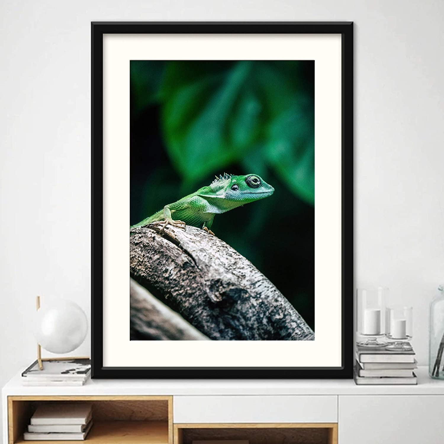 Recommendation H5print Framed Canvas Wall Art XVI San Jose Mall Dramatic Contemporary Reptile