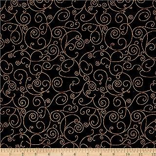 black gold fabric