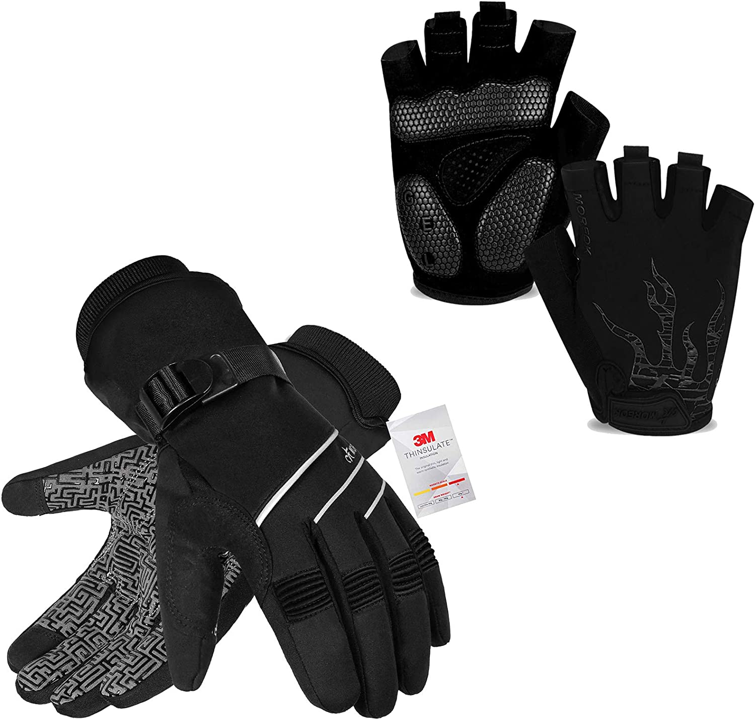 MOREOK Year-end annual account Mens Cycling Gloves Biking Glove Over item handling ☆ Glov Road Bicycle MTB DH