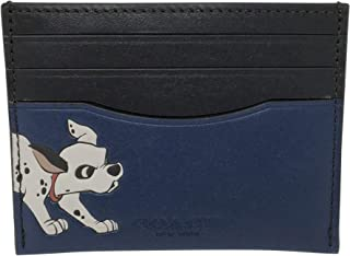 Disney X Coach Slim Card Case With Dalmatian Admiral Blue 91249