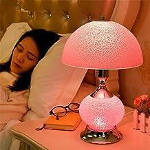Bedside lamp Bedroom lamp Bedside lamp Decoration Desk lamp,B,Pink