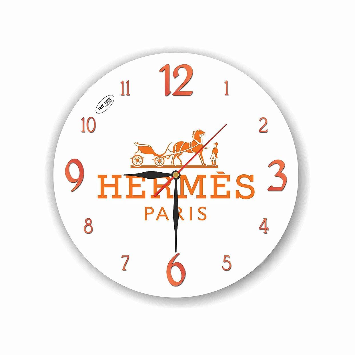 中断ウェーハ断片Hermes 11'' 壁時計 (エルメス) あなたの友人のための最高の贈り物。あなたの家のためのオリジナルデザイン