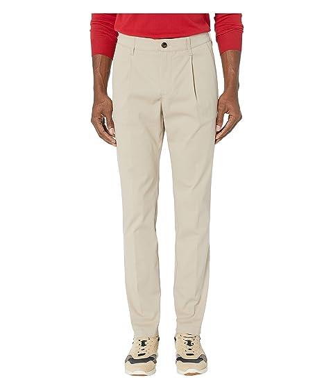 eleventy Cotton Stretch Single Pleat Pants