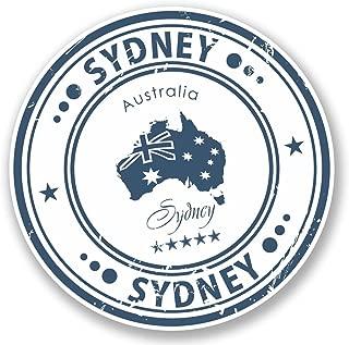 2 x 10cm- 100mm Sydney Australia Vinyl SELF ADHESIVE STICKER Decal Laptop Travel Luggage Car iPad Sign Fun #4571