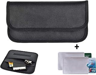 Newseego RFID Signalblocking Tasche | 2X RFID Kreditkartenhüllen, Keyless Go Schutz, Faraday Tasche für Autoschlüssel FOB & Funkschlüssel Abschirmung Strahlenschutz Tasche