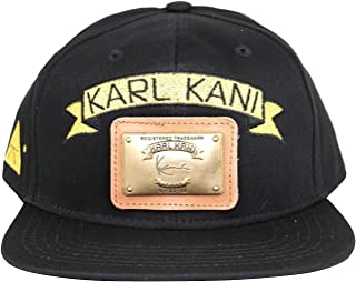 7aaf89063fd6e Karl Kani Gold Plate Snapback Embroidered Hat Black White Red Tan