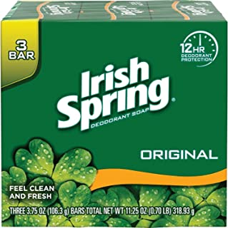 Irish Spring Original Deodorant Soap by Irish Spring for Unisex - 3 x 4 oz Soap, 3 count