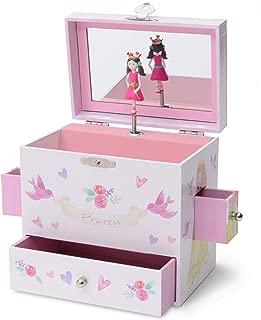 Jewelkeeper Musical Jewelry Box 3 Drawers, Fairy Princess Unicorn Design, Dance The Sugar Plum Fairy Tune