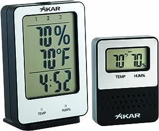 Xikar PuroTemp Hygrometer System, Humidor Temperature and Relative Humidity Display, Monitors Up to 3 Humidors