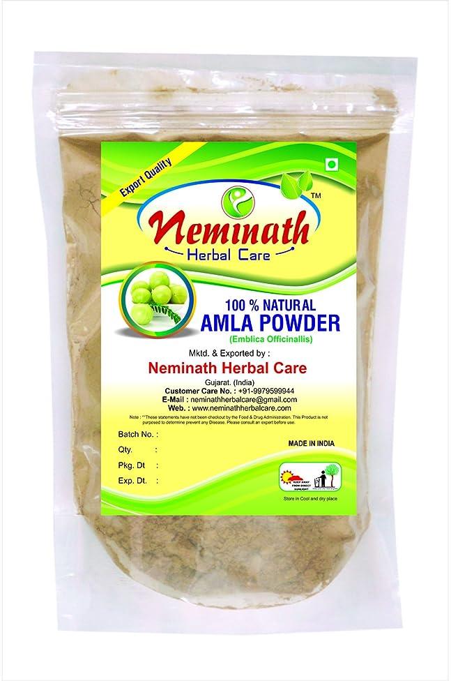 100% Natural Amla Fruit (EMBLICA OFFICINALIS) Powder as Hair Vitalizer Naturally by Neminath Herbal Care (1/2 lb/8 ounces/227 g)