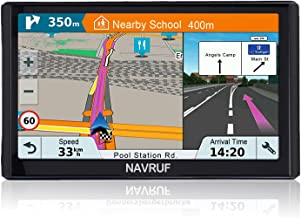 GPS Navigation for car (7 inch/8GB) NAVRUF Vehicle GPS Navigation System with Built-in Lifetime Maps,FM Car Navigation and Spoken Turn-by-Turn Directions