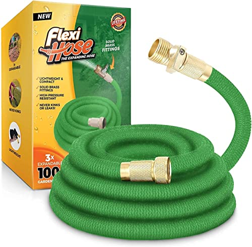 2021 Flexi online sale Hose Lightweight Expandable Garden Hose, No-Kink Flexibility, 3/4 Inch Solid Brass Fittings and Double Latex high quality Core sale