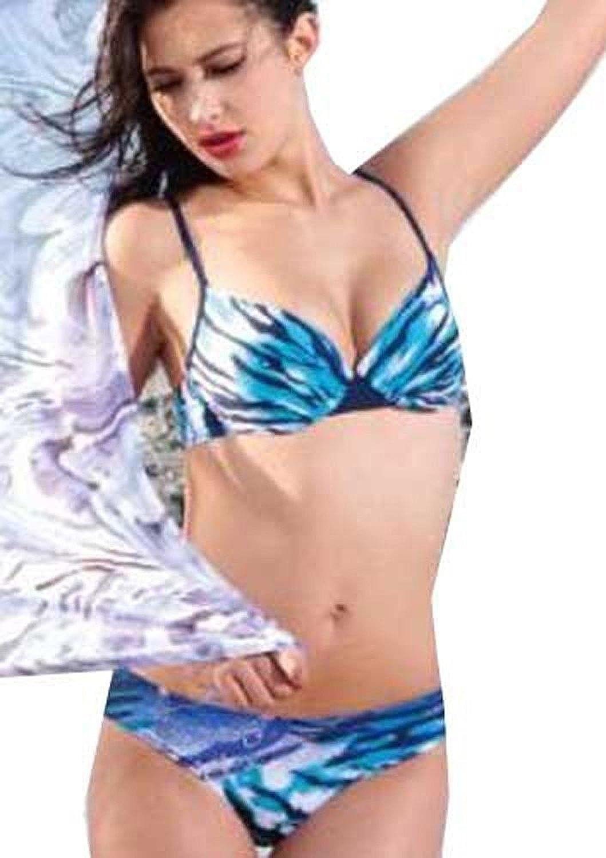 Tamari Beachwear Damen Bikini-Set Blau Blau B016WMP3KG  Neues Produkt