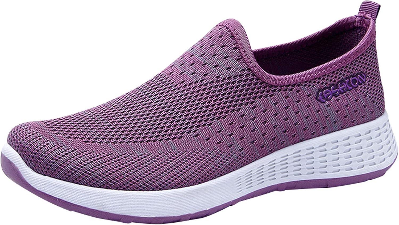 Bambas Mujer Zapatillas Mujer Casual Deportivas Caminar para Mujer/Hombre,Transpirable Zapatos de Running Sneakers Ligeras Zapato,Zapatos de Cuña con Plataforma de Malla