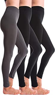 Homma 3 Pack Fleece Lined Winter Thick Brushed Leggings Thights