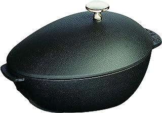 STAUB Mussel Pot Cocotte, Metal, Negro Mate, 25 cm