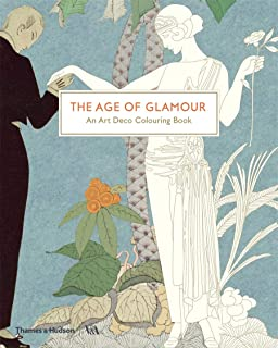 V&A The Age of Glamour: An Art Deco Coloring Book Colouring Books