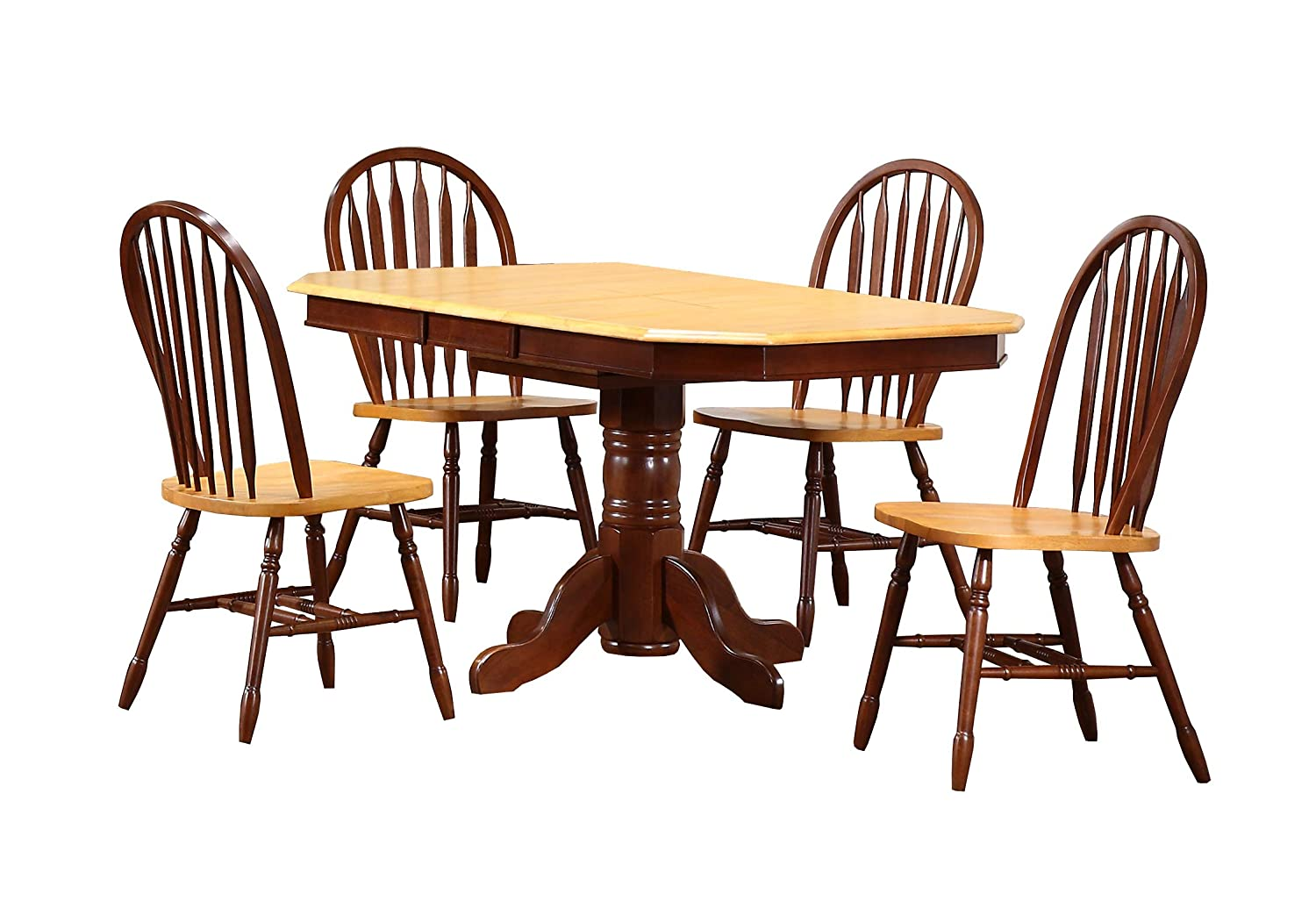 Sunset Trading Oak Selections Dining Two Size Table Room Fashionable Selling and selling Set