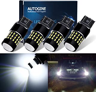 AUTOGINE 4 X 1000 Lumens Super Bright 9-30V 7440 7441 7443 7444 992 LED Bulbs 3014 54-EX Chipsets with Projector for Back ...