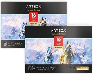 Arteza Acrylmalblock, DIN A3 29.7x42 cm, Ölmalblock 2er-Pac