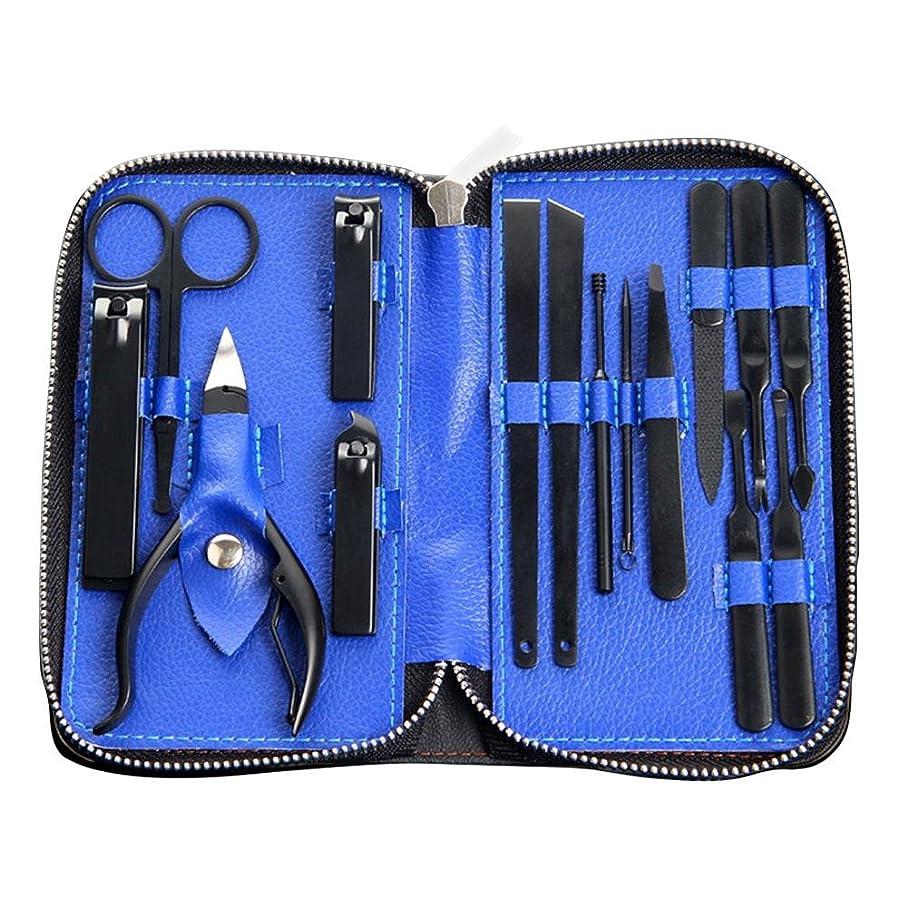無人鍔リムSILUN 16セットネイルケアセット マニキュアセット グルーミングキット 爪やすり 爪切り 爪切りセット 眉クリップ 携帯便利 収納ケース付き