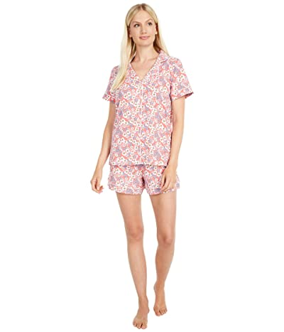 BedHead Pajamas Short Sleeve Classic Shorty Pajama Set (Meadows) Women