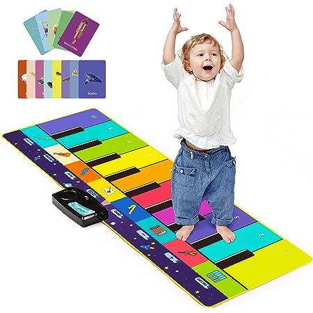 Joyjoz Enfant Tapis Musical Aves 100+ Sons, Tapis Piano 4 Modes, Tapis de Dance pour Enfant Instrument Tapis Musique et d'Éveil pour Enfants Garçons Filles(110 x 36 cm)