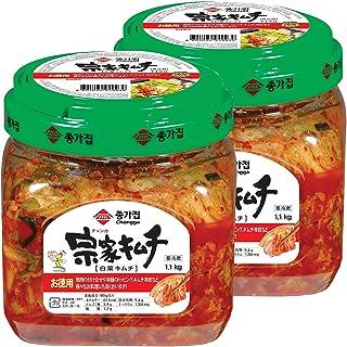 キムチ 韓国キムチ 韓国食品 きむち kimchi 韓国 業務用 김치 ご飯のお供 ごはんのおとも 大象ジャパン直営 「クール便」 宗家 キムチ 1.1kg 2個