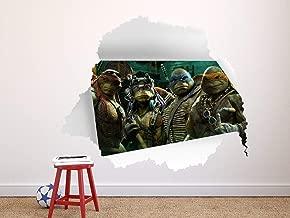 3D Hole in Wall, Ninja Turtles Boy Room, Wall Hole Stickers, Ninja Turtles Wall Decal for Kids, Bedroom Wall Decal Family Room Art Decoration
