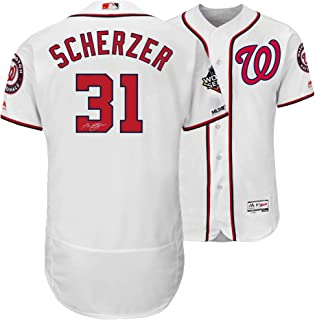Max Scherzer Washington Nationals Autographed 2019 World Series Champions White Majestic Authentic Jersey - Fanatics Authentic Certified