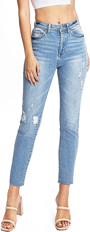 Wax Jeans Women's Juniors Slim-Straight Rise Direct sale of Japan Maker New manufacturer Denim High