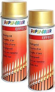 2X DUPLI Color BLATTGOLD Spray ACRYLLACK EDELMETALLOPTIK Glas Metall Stein 400 M