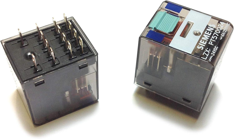 Siemens - Rele industrial 14 polos sin led 24vdc 4 conmutado