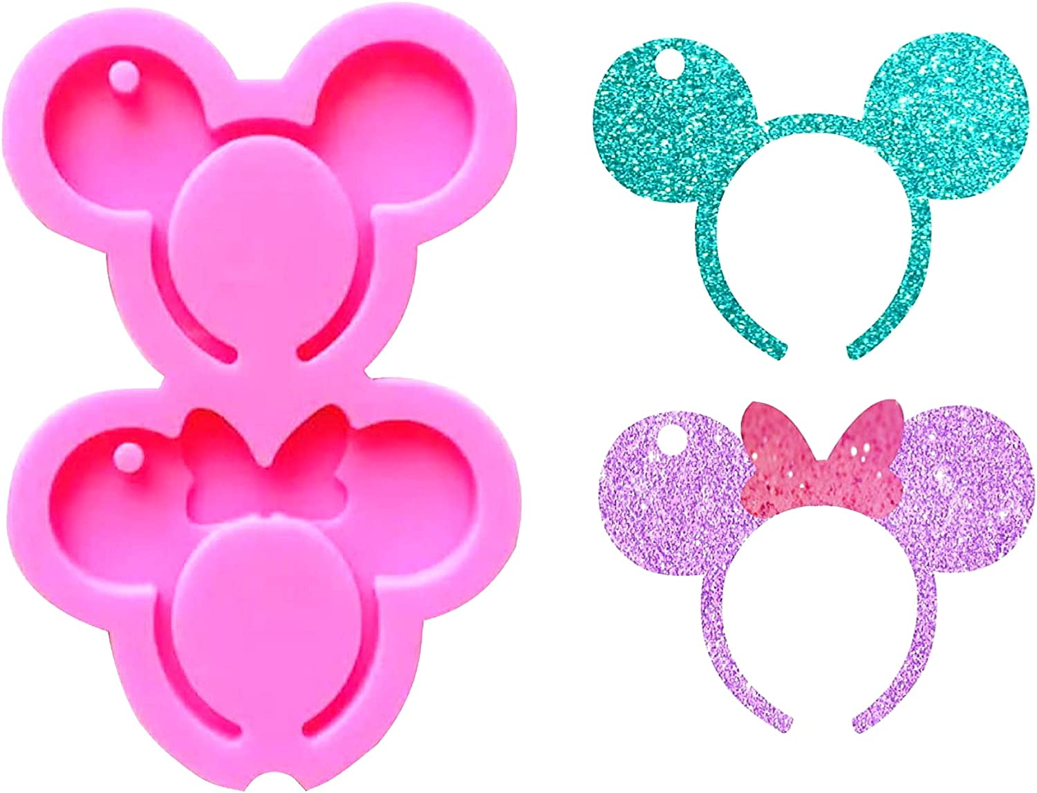 Mouse Headband Bow Shape Keychain 5 popular Resin Mold for Silicone Epoxy Raleigh Mall