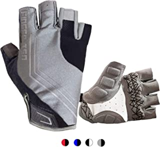 Cycling Gloves Men Women Half Finger Mountain Road Pack, Bike Bicycle Gel Paded Anti Slip Breathable Shockproof Biking Riding Glove, Shock Absorbing Outdoor Sports