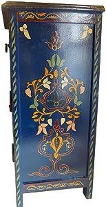 Moroccan Navy Blue Dresser Nightstand End Table Arabic Design Furniture