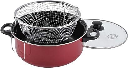 Aramco Alpine Cuisine Cooking Fryer, 5 Quart, Red